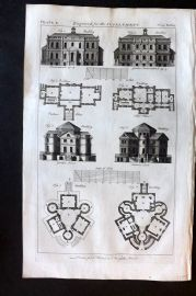 Hinton 1756 Antique Print. Architecture 10
